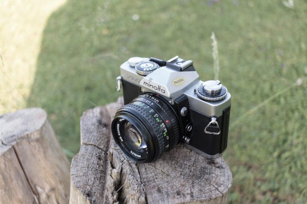 Minolta XD7 mit MD Rokkor 50mm 1.4 XD silber silver XD11